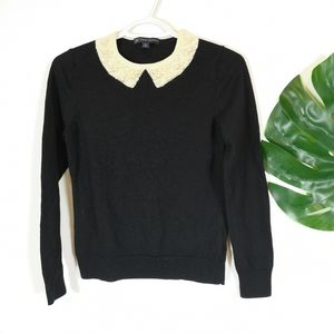 Brooks Brothers pearl wool knit sweater